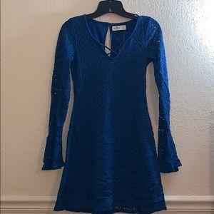 Hollister Short blue laced dress